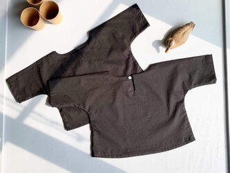 100cm : コットン五分袖Tシャツ(ブラック)for boy & girlの画像