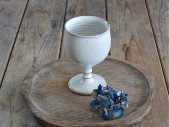陶器のゴブレット(白/無地)の画像