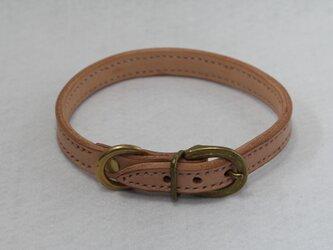 栃木レザー 首輪(小型犬、中型犬) (9色)の画像
