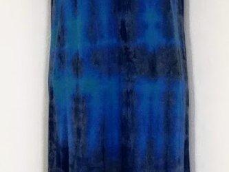 藍染 カットソーTシャツ ロング 1の画像
