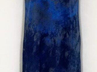 藍染 カットソーTシャツ ロング 2の画像