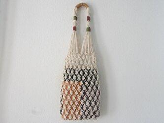 【受注製作】透け感が魅力♪マクラメ編みのバッグの画像