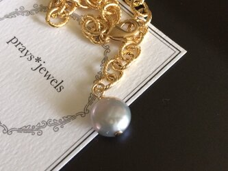 Coin Pearl Chain Bracelet: gの画像