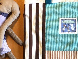 パッチワークバッグ「ミント&ショコラ」Mサイズの画像