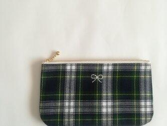 natural pouch M (tartan)の画像