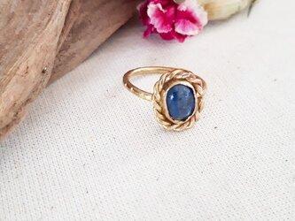 10号【brass】小粒 kyanite ringの画像