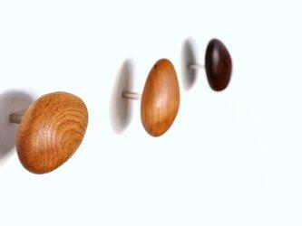 木製コートハンガー/3個/小石型 HS-F オーク/チェリー/オールナット【 樹種を選べる2700円もお得な3個セット】の画像