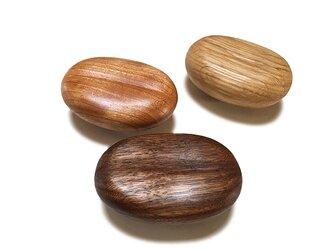 木製コートハンガー/3個/コーヒー豆型 HS-CM オーク/チェリー/オールナット/チーク【 2700円もお得な3個セット】の画像