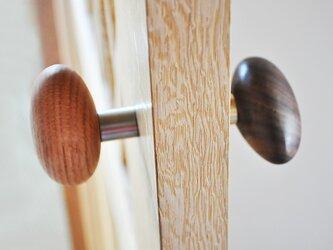 木製ドアノブ/2個/小石型 HS-A オーク/チェリー/オールナット【 選べる2個セット】の画像