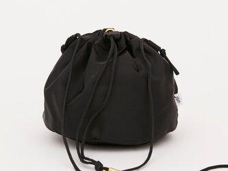 リモンタナイロン/巾着ショルダー「Twill/P effects」 (Black)の画像