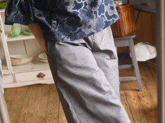 H様専用  久留米絣の反物からふんわり袖トップスの画像