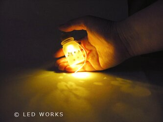 光る小びん さくら(電球色)の画像