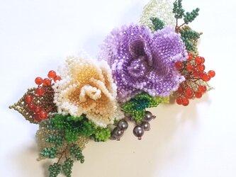 バレッタ Bouquet  (モーブローズ)の画像