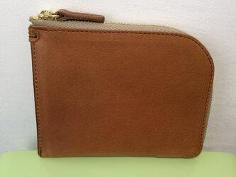 ミニマルなL字ファスナー財布の画像