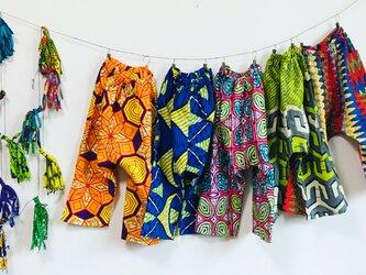 kids ビッグパンツ (アフリカンバティック)の画像