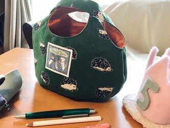 kororin bag basicハリネズミ・グリーン&テラコッタ70%バージョンの画像