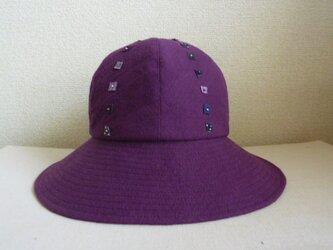 紫色のキャプリーヌの画像