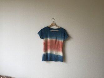 満月草木染め ヘンプオーガニックコットンTシャツ〜太陽と海と〜 大麻の画像