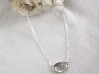 Lepidocrocite in Quartz Necklace レピドクロサイトinクォーツネックレス SV925の画像