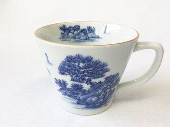 手描き 山水絵 マグカップの画像