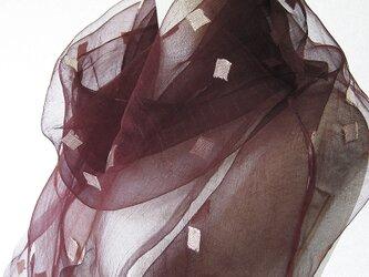 ☆セール第二弾☆ 草木染め 薄手大判シルクショール(栗の皮)の画像
