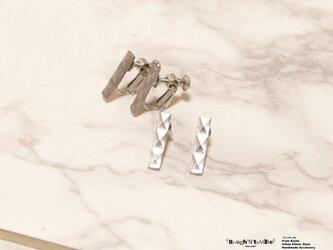 Diamond pattern pierce silverの画像