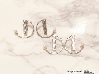 Diamond pattern hoop pierce Aの画像