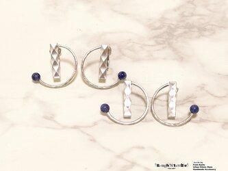 Diamond pattern hoop pierce Cの画像