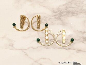 Diamond pattern hoop pierce Dの画像