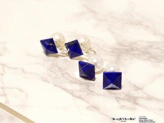 Pyramid stone pierce lapis lazuliの画像