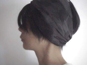 ターバンなヘアバンド カモフラージュ ダークグレー系 送料無料の画像