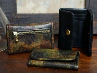 card+coin case-スマートキー収納可/Italy迷彩Leather#カーキ/限定サービス品の画像