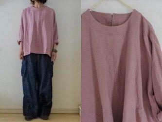 【受注制作】pinkラミーリネン Big長袖プルの画像