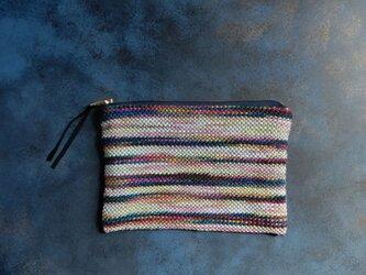 手織りのポーチの画像