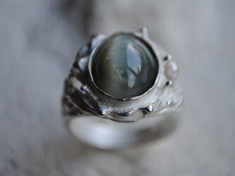 『心眼』タイガーアイのリングの画像