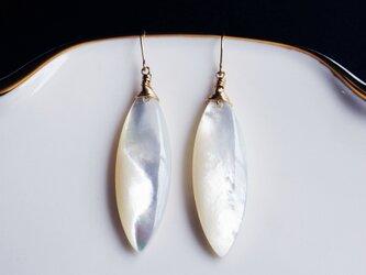 K10白蝶貝のマーキスピアス ~Ivetaの画像