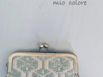オトナカワイイこぎん刺しの印鑑ケース 千草色の画像