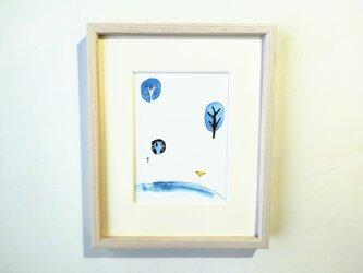 「遠い記憶」 イラスト原画 / 額縁入りの画像