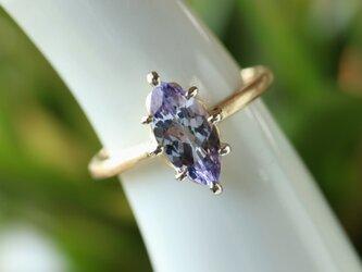 ファンシータンザナイト指輪の画像
