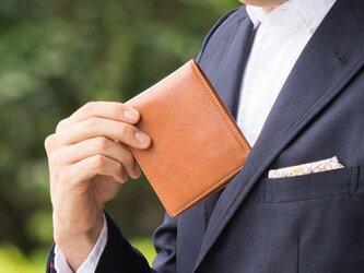 【イタリアンレザー】 牛革 「二つ折り財布」 GK-008の画像