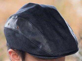 【岡山デニム】 メンズ帽子「ハンチング」dhm-002の画像