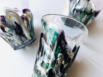 銀箔緑彩盃(ぎんぱくりょくさいはい)/ぐい呑の画像