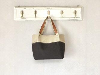 Michi  bag *トート〈チョコ〉の画像