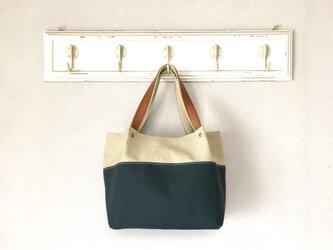 Michi  bag *トート〈ダークグリーン〉の画像