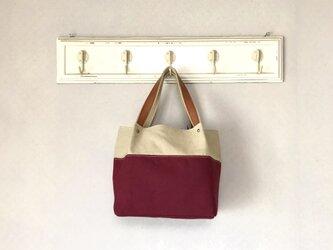 Michi  bag *トート〈エンジ〉の画像
