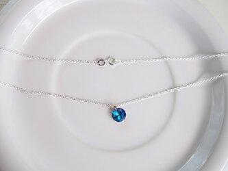 silver925 スワロフスキーダイヤモンドカットペンダントの画像