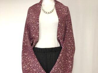 正絹反物 マーガレット ストール 長袖  羽織りもの 着物リメイク(18)の画像