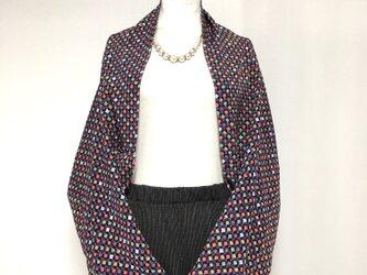 正絹反物 マーガレット ストール 長袖  羽織りもの 着物リメイク(19)の画像