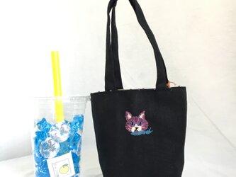 カフェバッグ  猫(マフラー)の画像