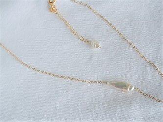 14KGF 淡水真珠ケシパールネックレス 2の画像